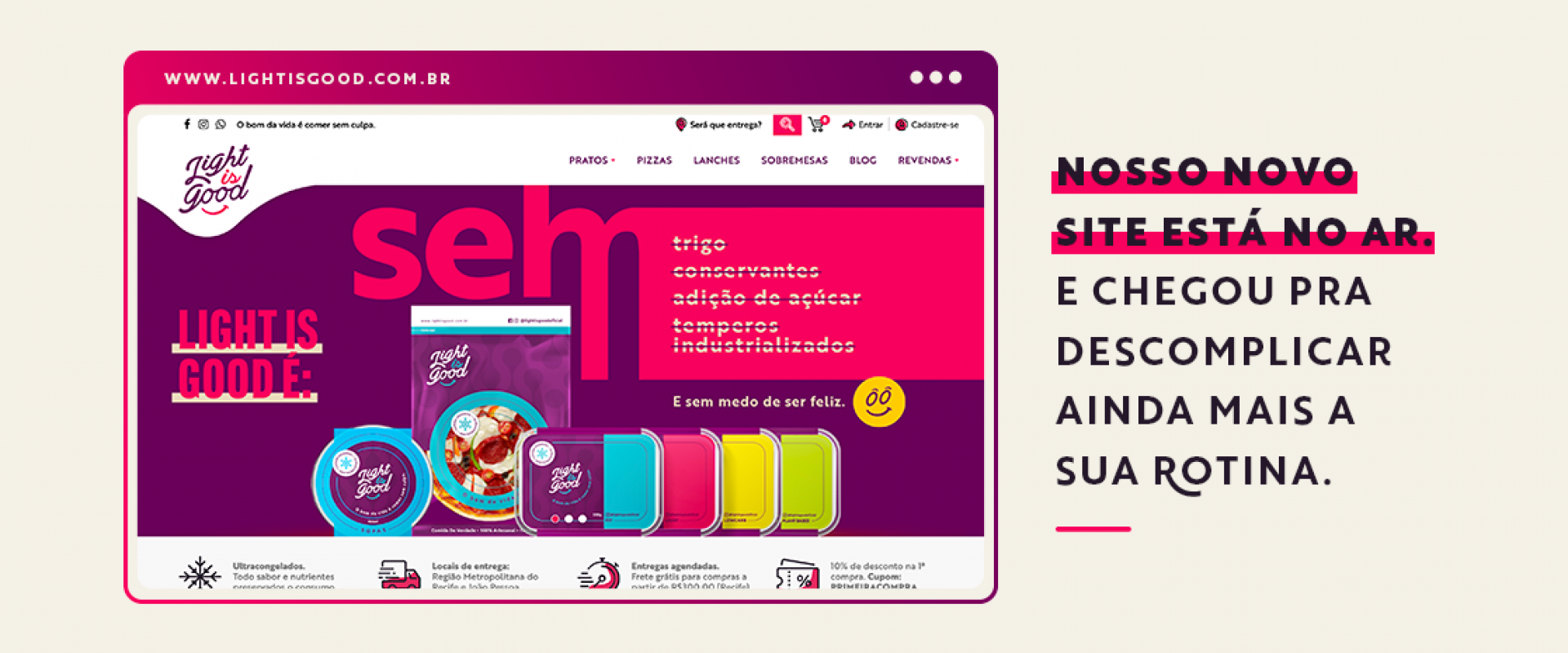 Novo site e-commerce Light is good
